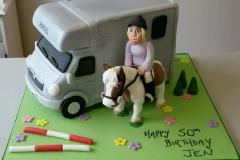 3d Horsebox and horse cake