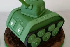 3d Army tank cake