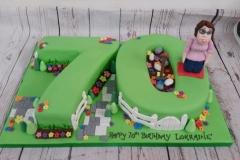 70th gardening cake
