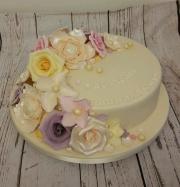 Pearl Wedding Anniversary Cake