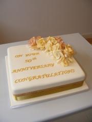 Golden-Wedding Cake