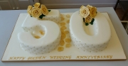 50 Years Golden Wedding Anniversary Cake