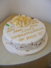 70th-Wedding-Anniversary-cake