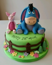Piglet and Eeyore 18th birthday cake