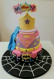 Superhero girls birthday cake