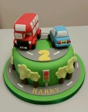 Roads cars cake