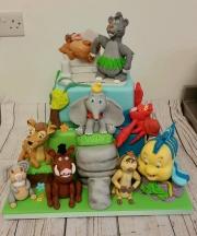 Disney Characters Cake 30th Birthday