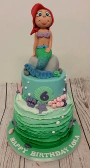 Mermaid Under the Sea Birthday Cake