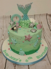 Mermaid Tail Buttercream Cake