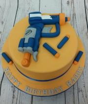 Nerf Gun birthday cake