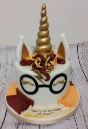 Harry Potter unicorn birthday cake