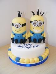 2-minions birthday cake