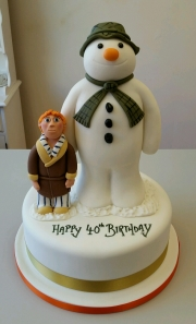 The Snowman birthday cake