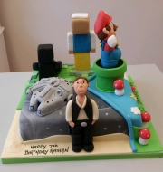 Split theme Han Solo  birthday cake