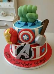 Marvels superhero birthday cake