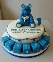 Teddy Bear 1st birthday cake