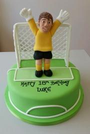 Football  Goalie birthday cake