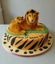 Lion and cub birthday cake