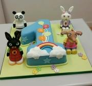 Bing and friends 1st birthday cake