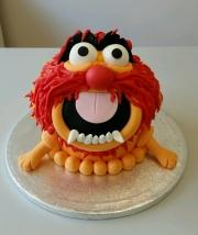 Animal giant cupcake
