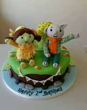 The Adventures of Abney and Teal  birthday cake