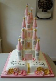 Once upon a time story book and castle cake