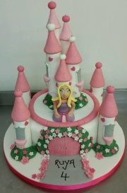 Princess in her castle cake