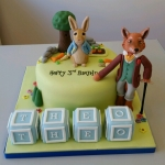 Peter Rabbit and Mr Fox cake