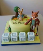 Peter Rabbit and Mr Fox cake