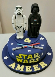 Star Wars Darth Vader Stormtrooper cake