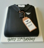Tshirt boys birthday cake