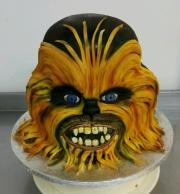 Chewbacca face cake