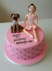 Ballerina girls cake