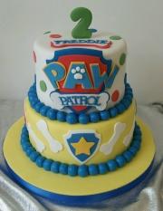 Pawpatrol tiered birthday cake