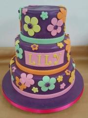 Girls tiered birthday cake