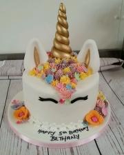 Unicorn and buttercream mane cake