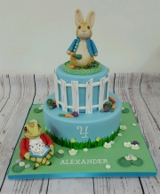 Peter Rabbit and Toad  cake