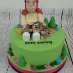 Girl and pet Rabbit cake