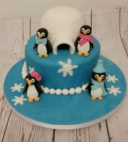 Penguin Igloo Birthday Cake