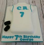 Football Shirt Birthday Cake