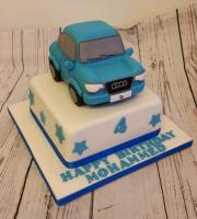 Childrens car birthday cake