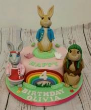 Peter Rabbit and Friends Birthday Cake