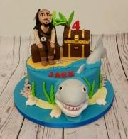 Pirate and Shark Cake