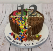 Sweet and chocolate cake