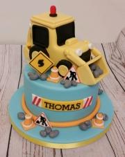 Digger birthday cake childrens