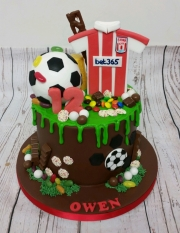 Football drizzle cake