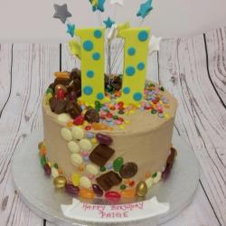 Chocolate and buttercream birthday cake