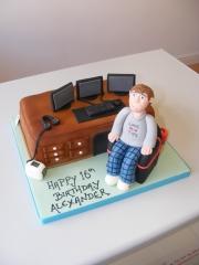 Desk-work-station-cake