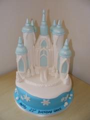 Ice-castle-cake frozen