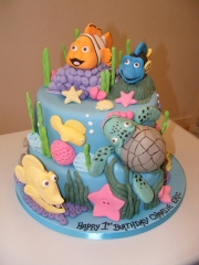 Under-the-sea-themed-cake-tiered